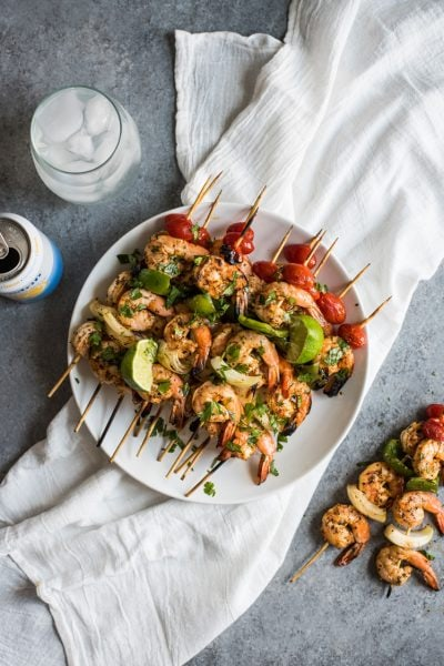 Grilled Garlic Herb Shrimp Skewers