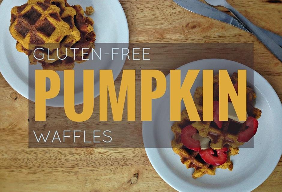 Gluten-free Pumpkin Waffles Recipe. Great for breakfast and brunch!   fromcatstocooking.com