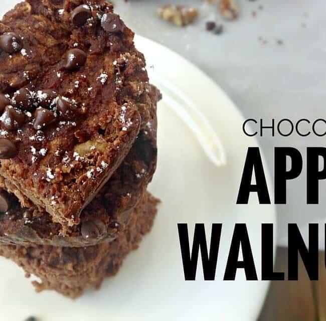 Chocolate Apple Walnut Cake. Gluten-free, Paleo | fromcatstocooking.com