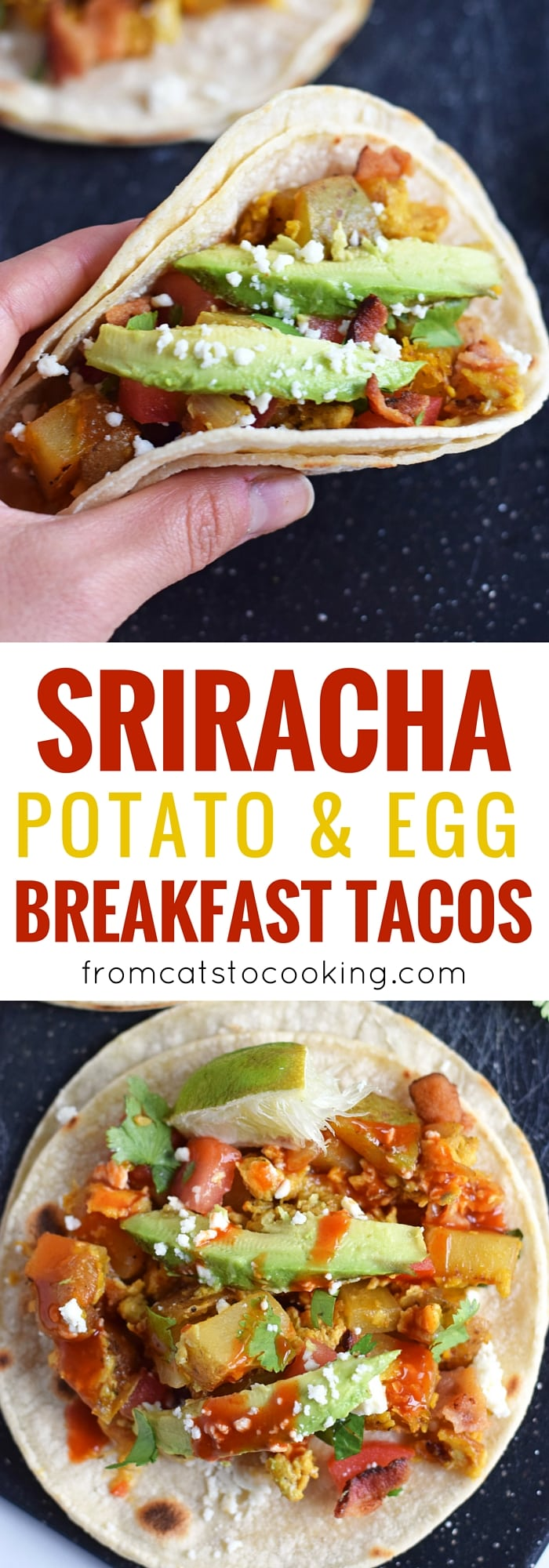 Sriracha Potato & Egg Breakfast Tacos