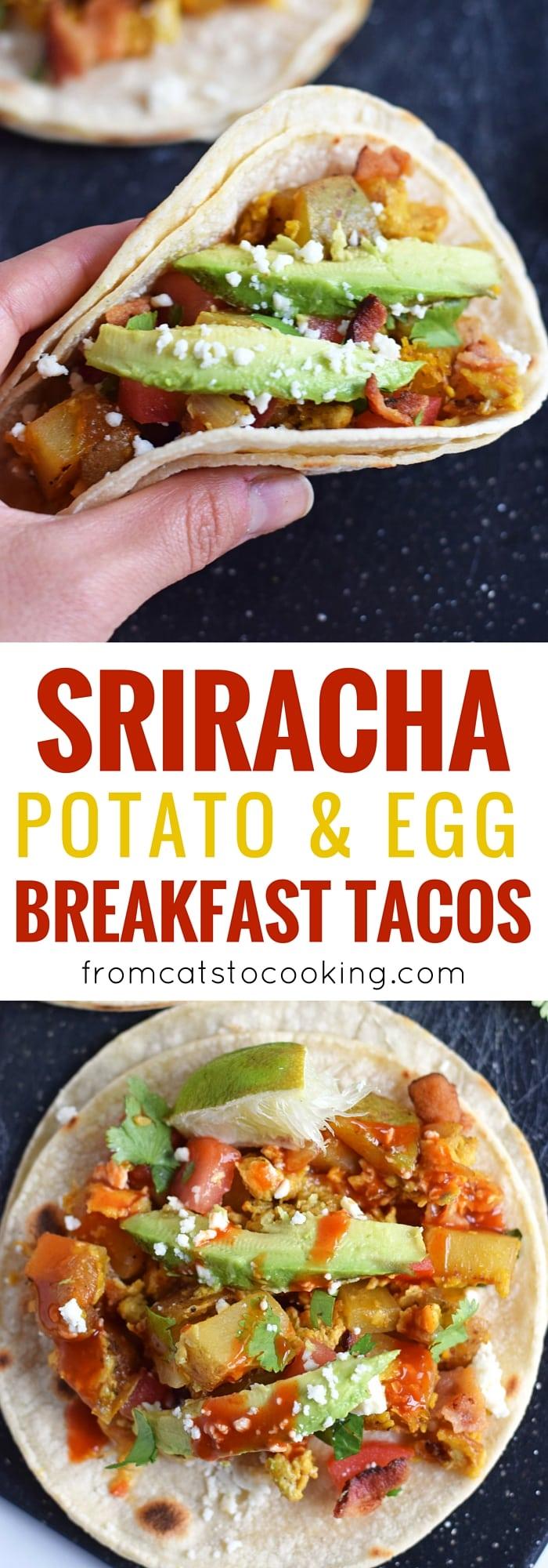 Sriracha Potato and Egg Breakfast Tacos - Isabel Eats