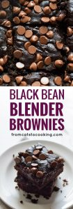 These Mexican Black Bean Blender Brownies are chocolatey, easy to make and are completely flourless. All you need is a can of black beans! Seriously one of the best dessert recipes ever! (Gluten free, Vegetarian, Grain Free)