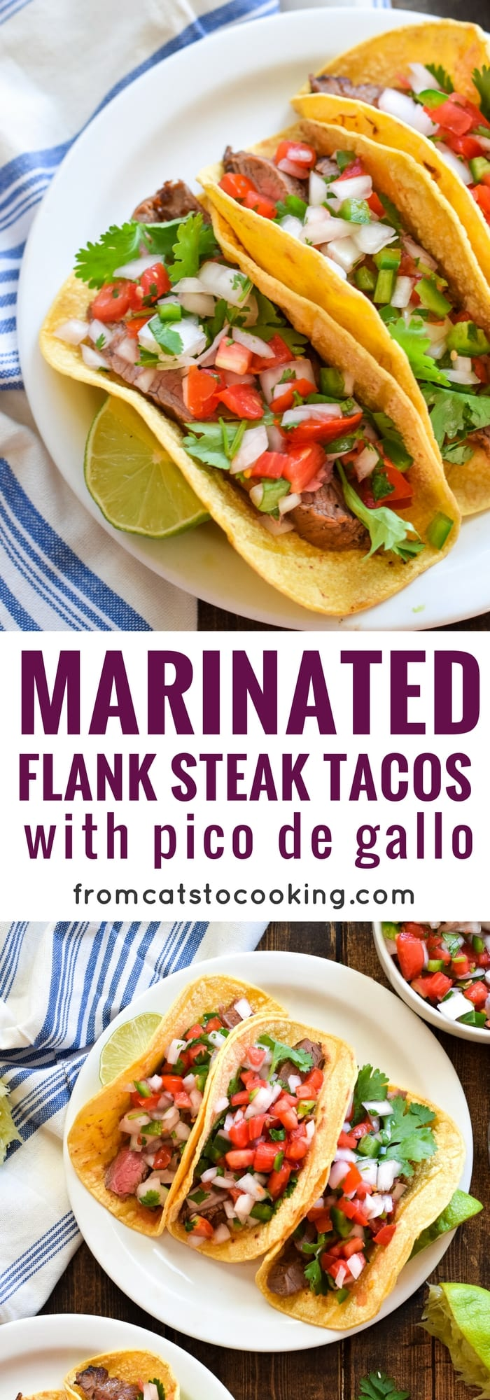 LIKE THESE MARINATED FLANK STEAK TACOS WITH PICO DE GALLO? L..