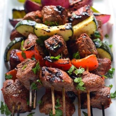 Easy Mexican Beef Skewers