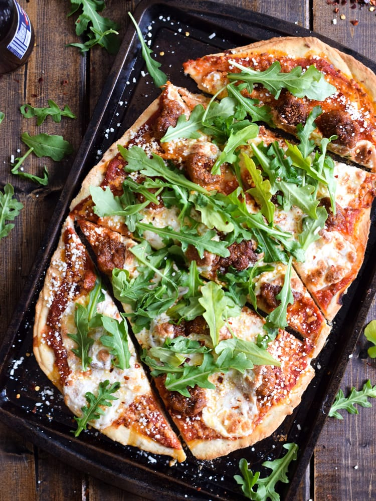 Made with a Cholula Hot Sauce pizza sauce, this homemade Mexican Chili Lime Chorizo Pizza is a tasty and easy meal for any day of the week.