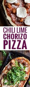 Made with Cholula Hot Sauce, this homemade Mexican Chili Lime Chorizo Pizza is a tasty and easy meal for any day of the week.