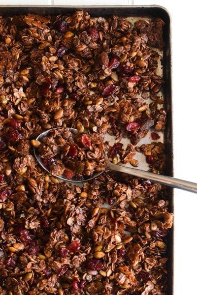 Mexican Chocolate Pumpkin Seed Granola