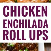 Make your life a little tastier with these cheesy Chicken Enchilada Roll Ups covered in an authentic red enchilada sauce. Plus, they're low carb and gluten free!