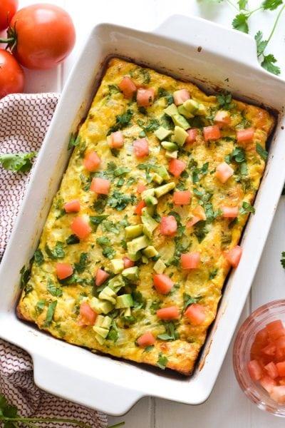 Salsa Verde Breakfast Frittata
