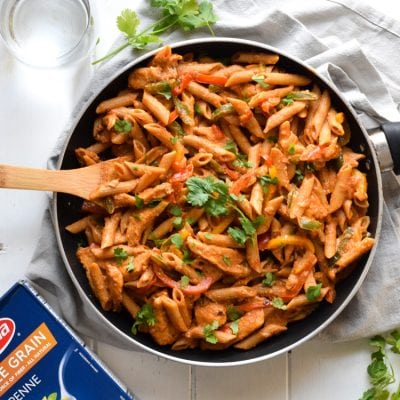 Healthy Chicken Fajita Pasta