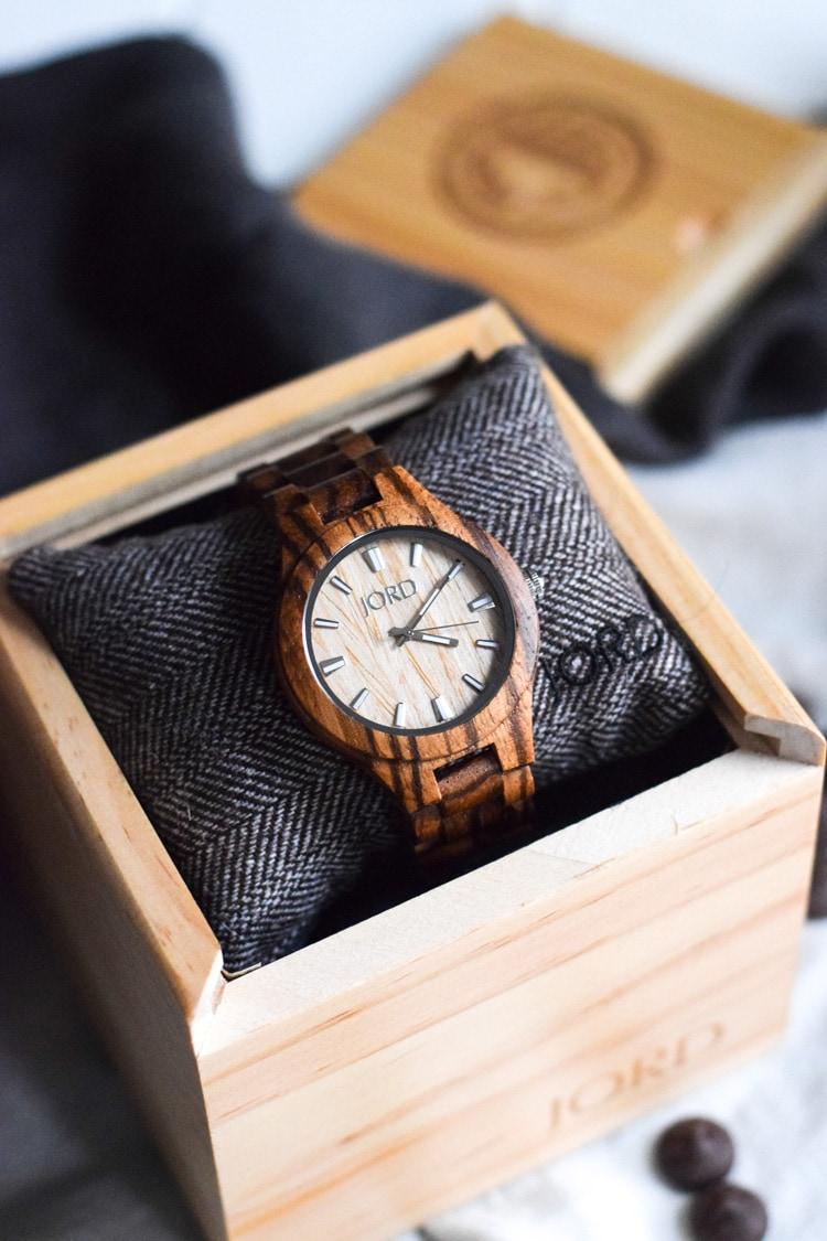 JORD Wood Watch - Fieldcrest Zebrawood & Maple