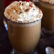 This Mexican Tres Leches Coffee topped with a mountain of whipped cream, cinnamon and chocolate shavings is easy to make at home and irresistibly yummy! Perfect for the holidays and the cold winter nights!