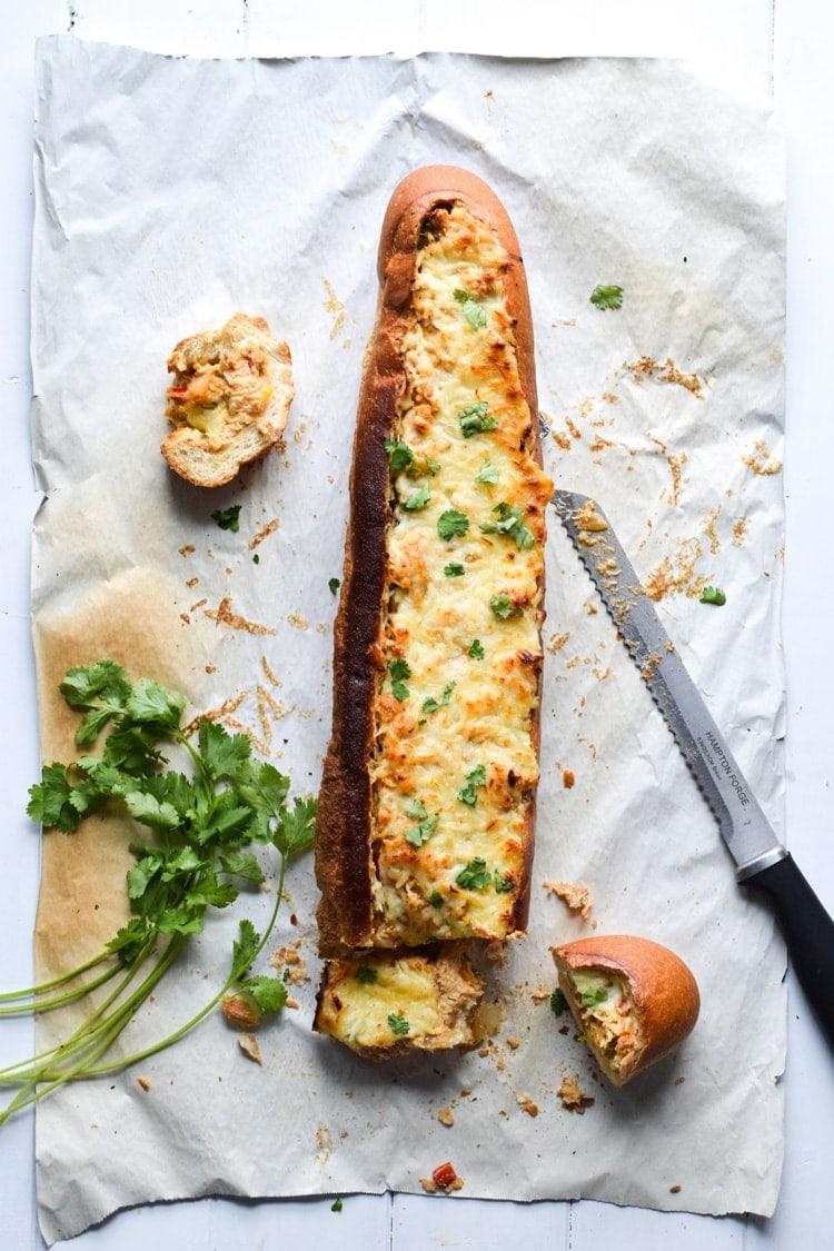 Chicken Fajita Stuffed French Bread