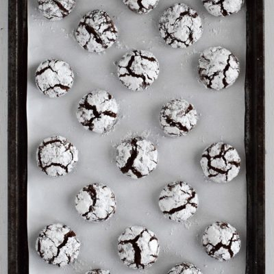 Coconut Oil Mexican Chocolate Crinkle Cookies