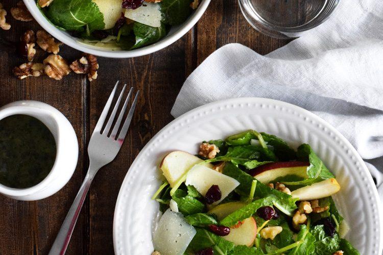 Apple Pear Salad with Honey Cilantro Vinaigrette