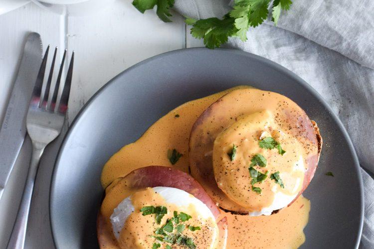 Easy Chipotle Eggs Benedict