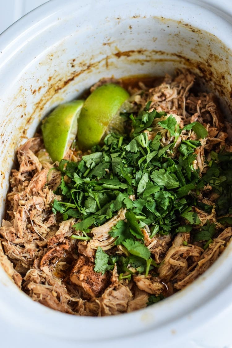 chicken carnitas in a crockpot