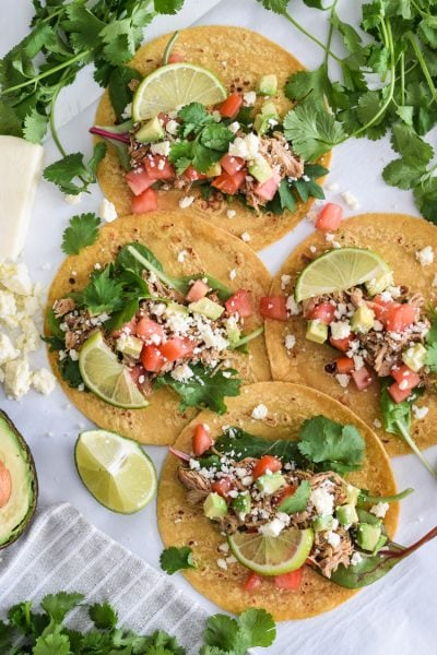 Mexican Slow Cooker Chicken Carnitas Tacos