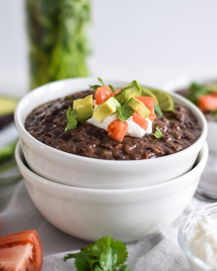 Spicy Vegetarian Black Bean Soup - 25 Healthy Mexican Food Recipes