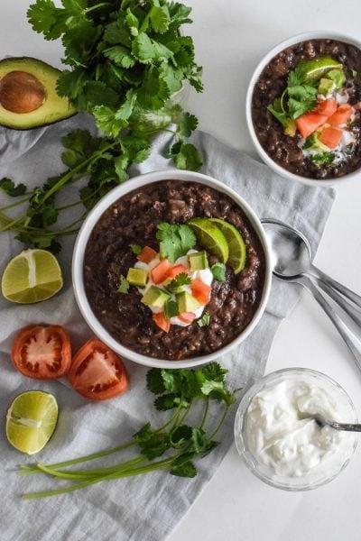 Spicy Vegetarian Black Bean Soup