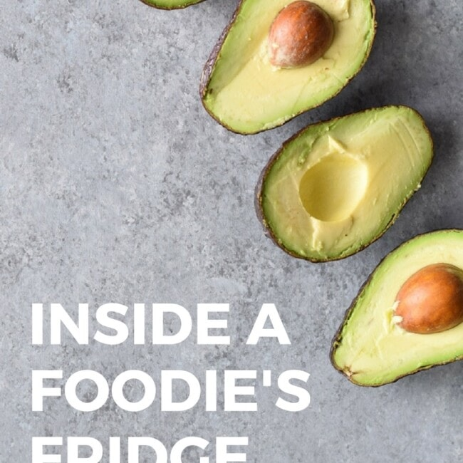 Inside a Foodie's Fridge // A sneak peek inside the fridge of a food blogger.