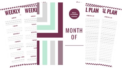 Free Monthly Meal Planner Printable