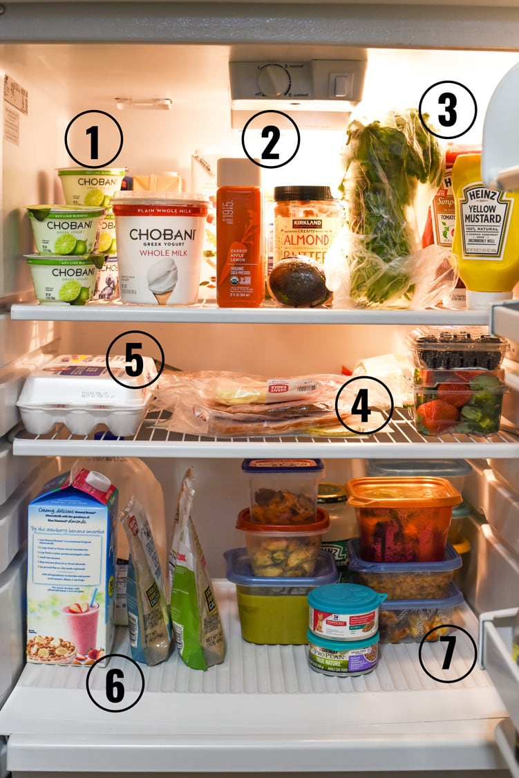 Inside a Foodie's Fridge // Everyday ingredients for everyday foodies. A sneak peek inside the fridge of a food blogger.