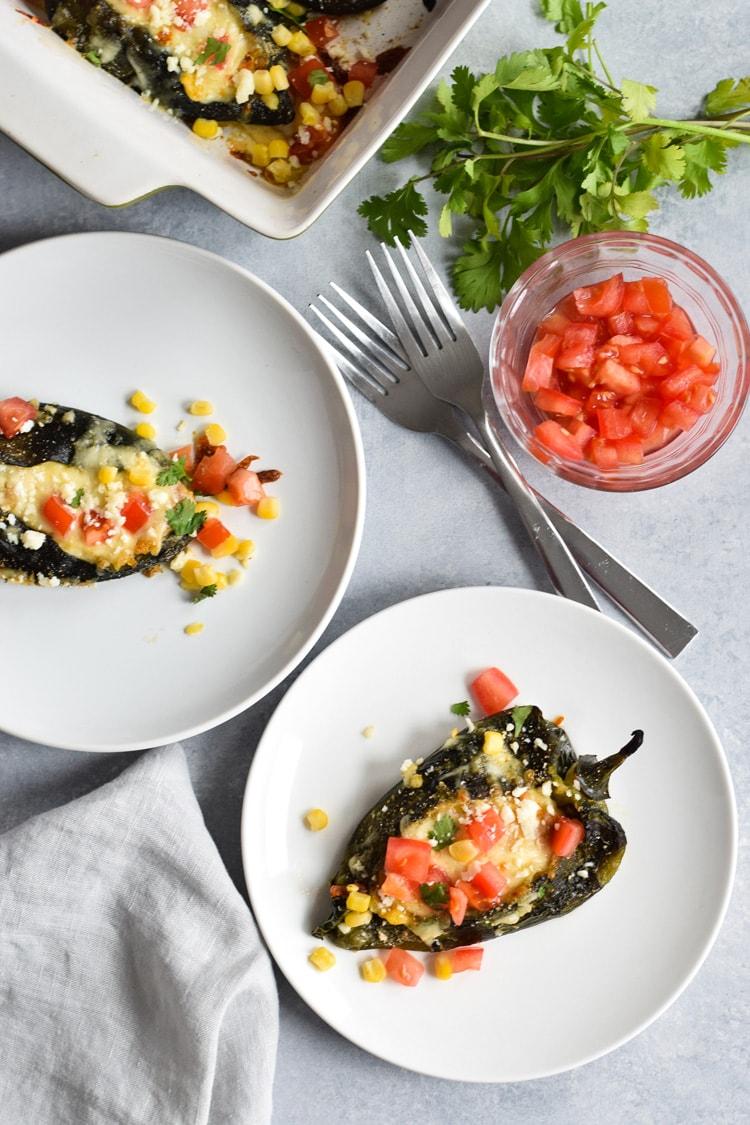 Baked Vegetarian Chile Rellenos - Isabel Eats