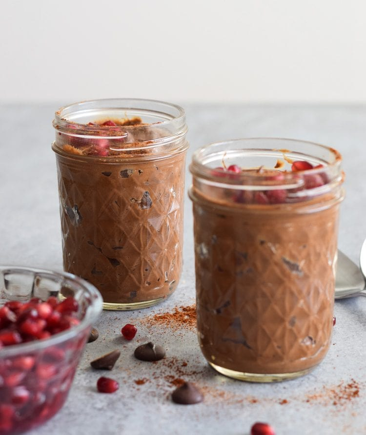 This Chili Chocolate Avocado Mousse is a decadent yet healthy dessert that only takes 5 minutes to make in the blender. Is also gluten free, paleo and vegetarian.