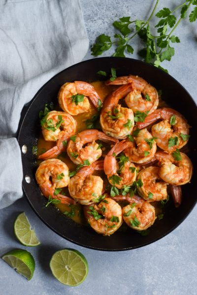 Spicy Red Pepper Garlic Shrimp