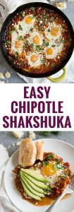 pin for Easy Chipotle Shakshuka recipe