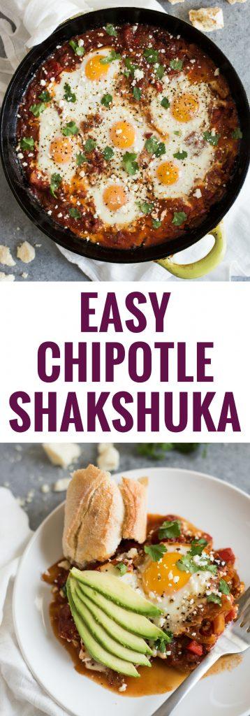 pin for Easy Chipotle Shakshuka recipe