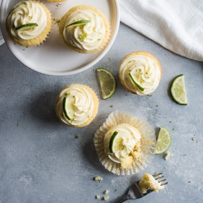 These addicting Margarita Cupcakes with Tequila Cream Cheese Frosting are made with real silver tequila and zesty lime juice. Time to party!