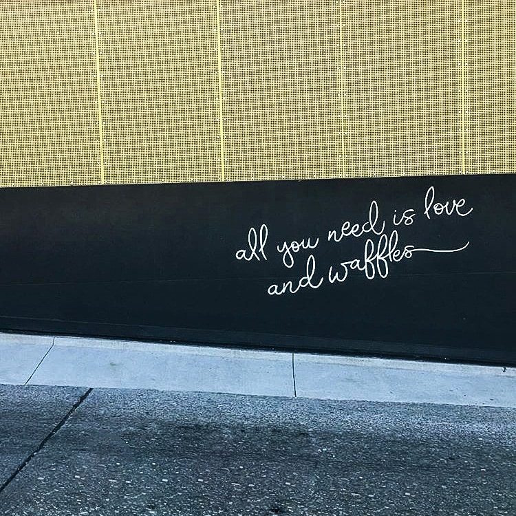 Waffleonia wall in Oklahoma City