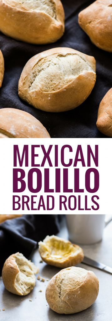 These Authentic Mexican Bolillo Bread Rolls are made with simple ingredients and easy to make. Enjoy them as a side dinner roll or as a Mexican torta!