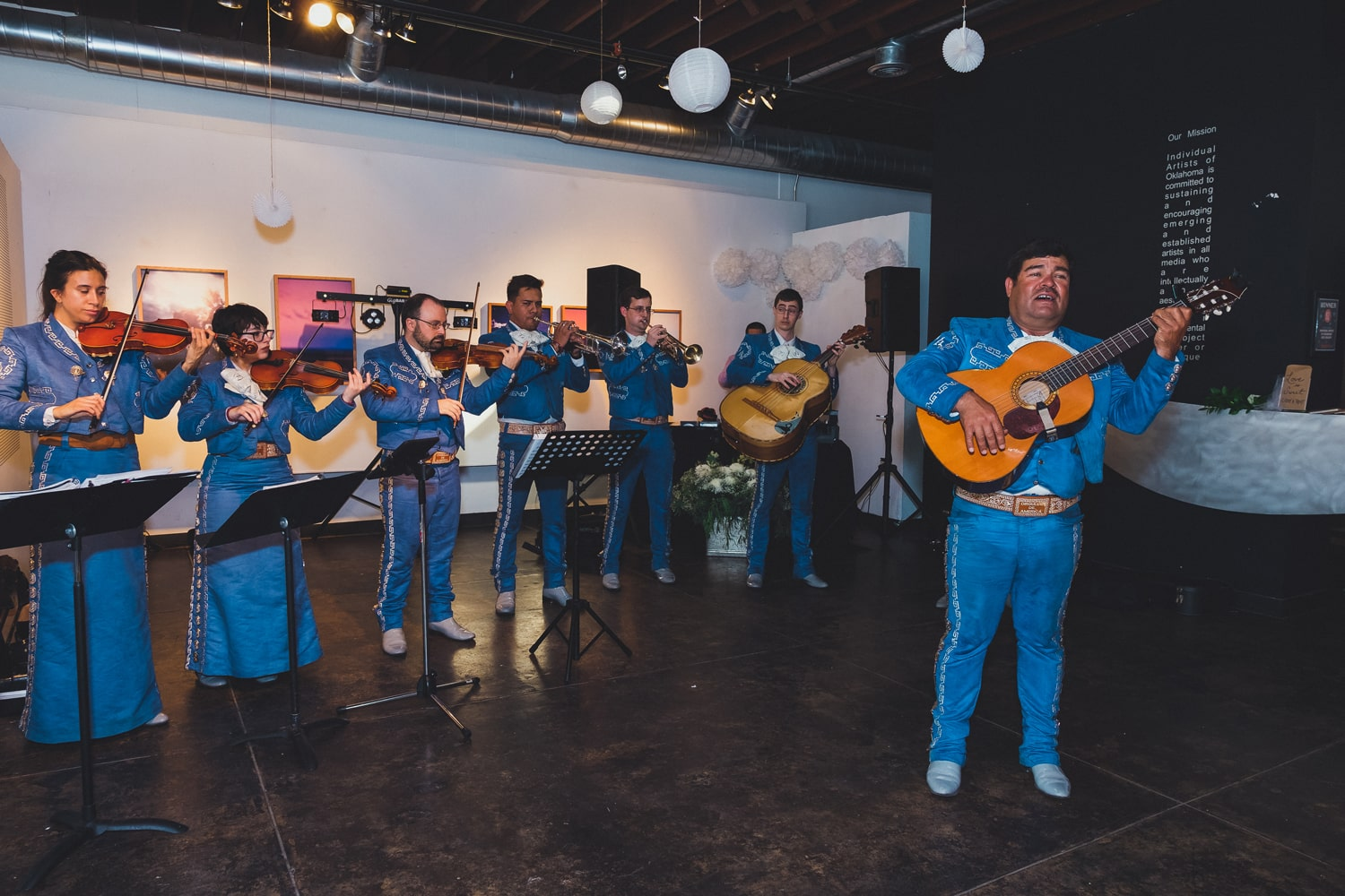 Mariachi Orgullo de America at IAO Gallery wedding in Oklahoma City // Photo by Leia Smethurst Photography