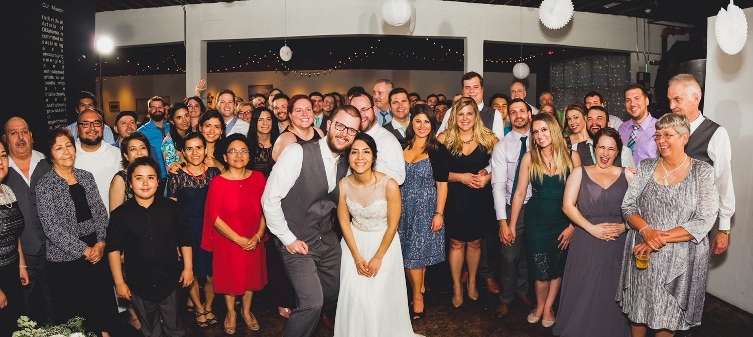 John Moore and Isabel Orozco Moore wedding at IAO Gallery in Oklahoma City // Photo by Leia Smethurst Photography