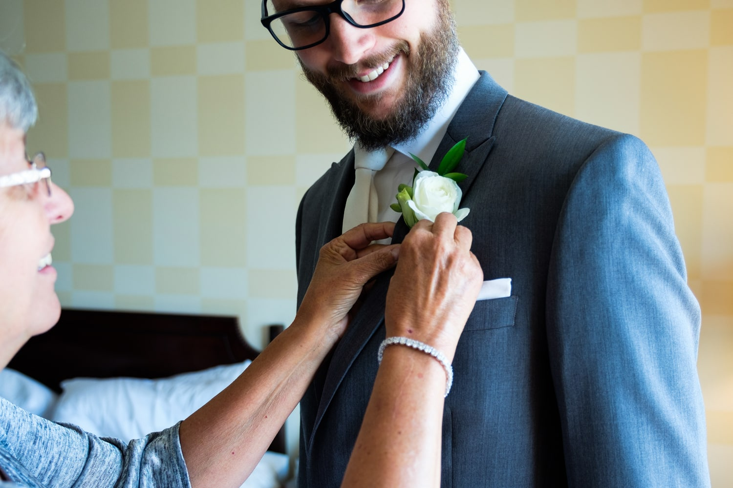 John Moore getting ready for his wedding day. // Photo by Leia Smethurst