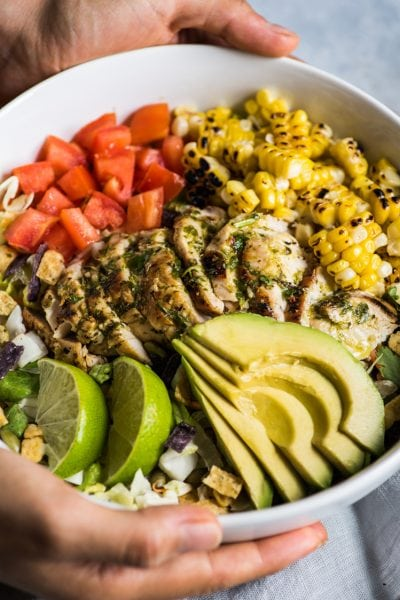 Mexican Chimichurri Chicken Salad