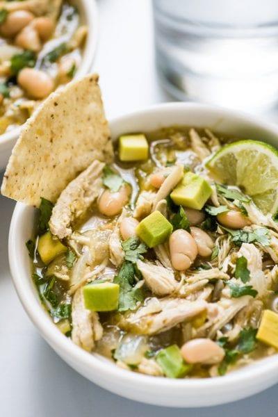 White Bean Chicken Chili Verde Soup