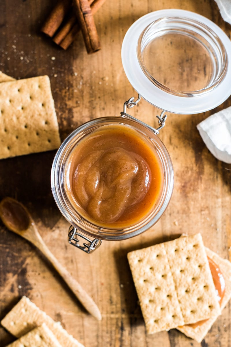 This rich and caramel-y Authentic Homemade Dulce de Leche is easy to make, requires only 5 ingredients and is one of my favorite Mexican desserts!