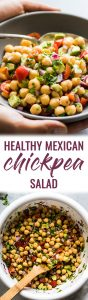 This Healthy Mexican Chickpea Salad recipe is fresh, easy to make and packed with nutritious ingredients ready in only 15 minutes! (gluten free, vegetarian, vegan)