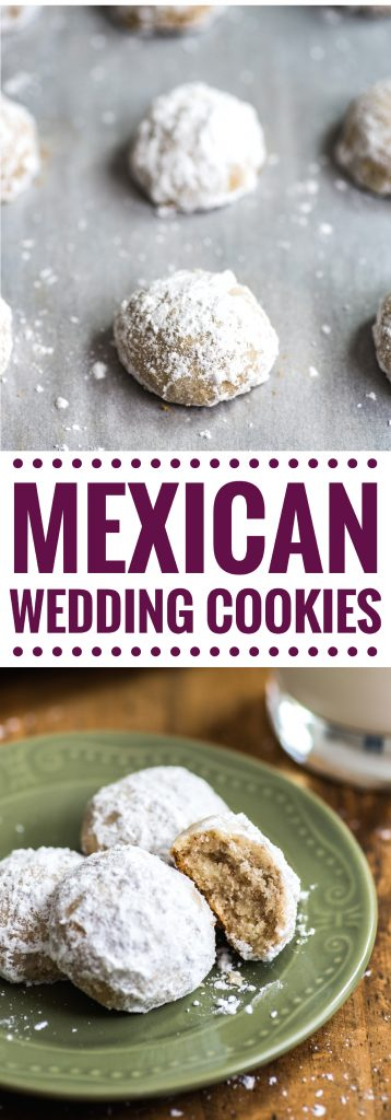 These Mexican Wedding Cookies (Polvorones) are rich, buttery and crumbly shortbread cookies that melt in your mouth and are absolutely irresistible!