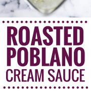 pin for easy poblano cream sauce