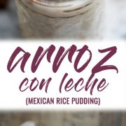 Arroz con Leche (or Mexican rice pudding) is a comforting and simple no-fuss dessert that's guaranteed to satisfy any sweet tooth. It can be served hot or cold and is made with only 4 ingredients!