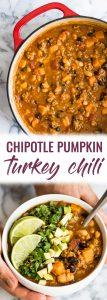 pin for easy turkey pumpkin chili