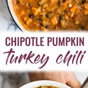 pin for easy turkey pumpkin chili