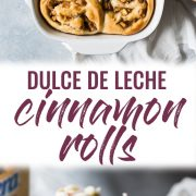 These Dulce de Leche Cinnamon Rolls stuffed with apples and pecans are the perfect fall and winter treat made with a Mexican twist!