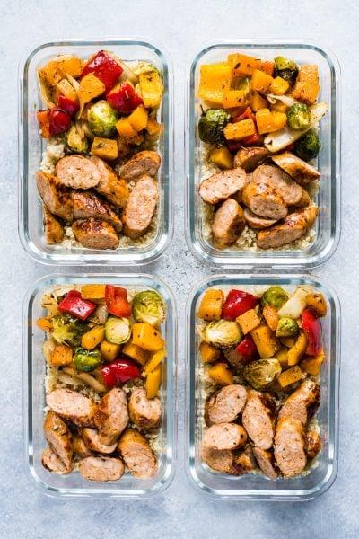 Healthy Sheet Pan Sausage and Veggies