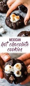 These Mexican Hot Chocolate Cookies aresuper chocolaty, made with cinnamon and chili powder for a little Mexican twist and topped with mini marshmallows!